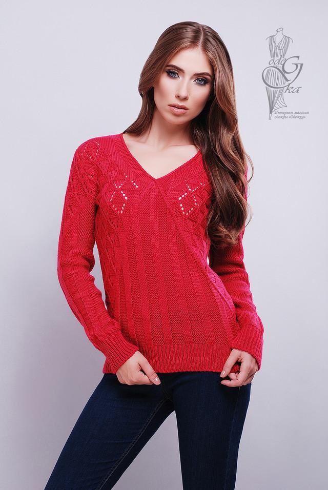 Малиновый цвет Красивых женских свитеров Бриз