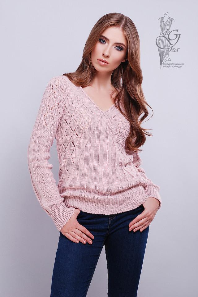 Цвет пудра Красивых женских свитеров Бриз