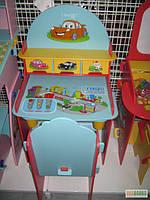 Детская парта со стульчиком Bambi «Тачки» W 026