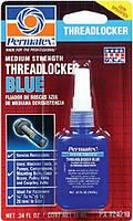 Анаэробный клей синий. средняя фиксация Permatex® Medium Strength Threadlocker BLUE (10 мл)