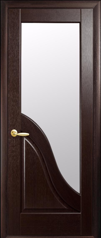 Межкомнатные двери Новый Стиль Амата Стекло сатин Каштан