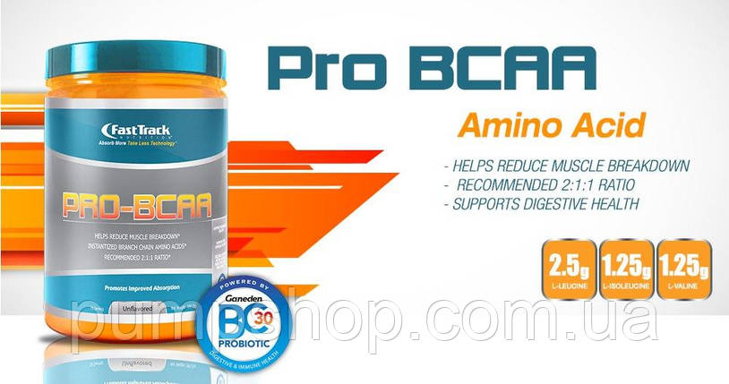 БЦАА Fast Track Nutrition Pro BCAA 380 г-75 порций ( США ) , фото 2