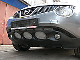 Декоративно-защитная сетка радиатора Nissan Juke фальшрадиаторная решетка, бампер, фото 4