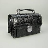 Барсетка кожаная мужская классика черная Desisan 038-11 Турция, фото 1