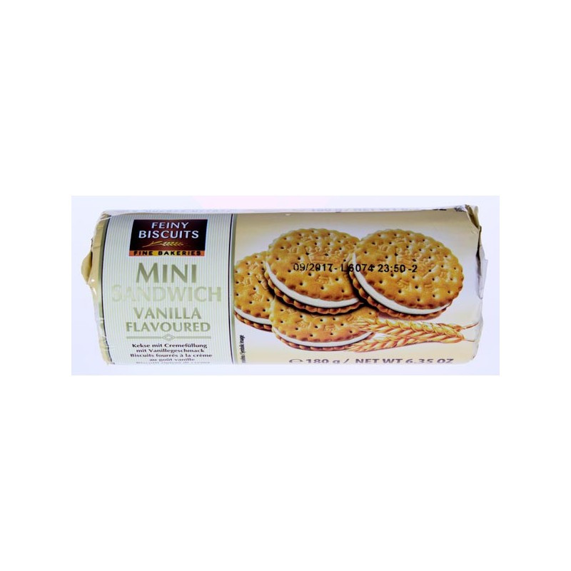 Печенье Feiny Biscuits Mini Sandwich Vanilla (180 Г)
