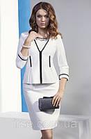 Женский жакет цвета экри с рукавом 3/4 и застежкой молнией. Модель NZ11 Sunwear.