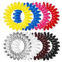 Резинка-браслет для волос Invisibobble упаковка из 3-х штук, по вашему желанию комбинируем цвета. Мелкий опт
