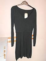 Платье-туника темно-зеленое