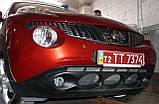 Декоративно-защитная сетка радиатора Nissan Juke фальшрадиаторная решетка, бампер, фото 3