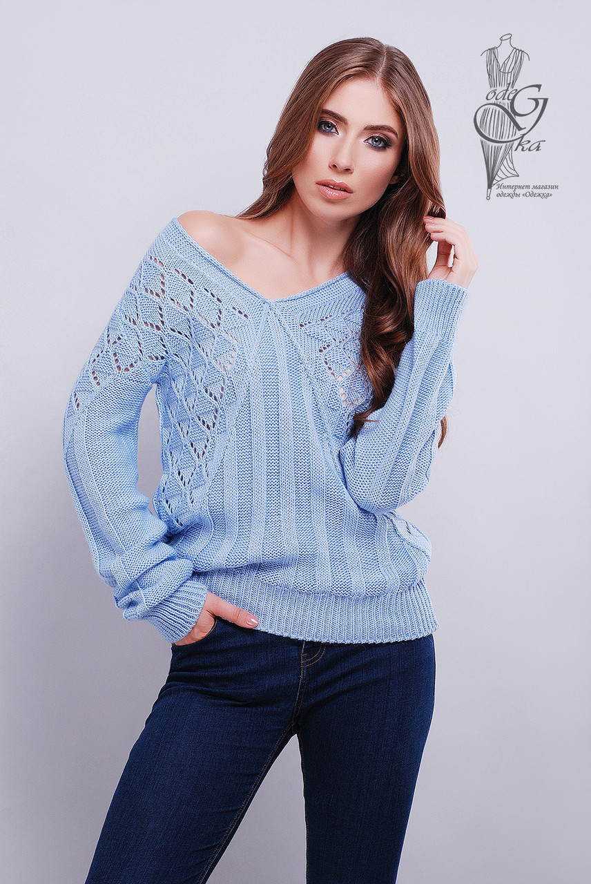 Красивые женские свитера Кристина-2 из шерстяной нити