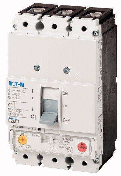 Вимикач автоматичний LZMC1-A160-I (160А 36кА) Eaton (111897)