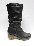 Кожаные темно-коричневые зимние сапоги. Большие (41 - 43 ) и стандартные (36 - 40) размеры . Украина. , фото 1