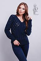 Красивые женские свитера Кристина-6 из шерстяной нити3