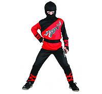 Карнвальный костюм Красный  Ниндзя  120-130 см.