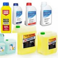 Химия, жидкости, очистители от загрязений, незамерзающие жидкости