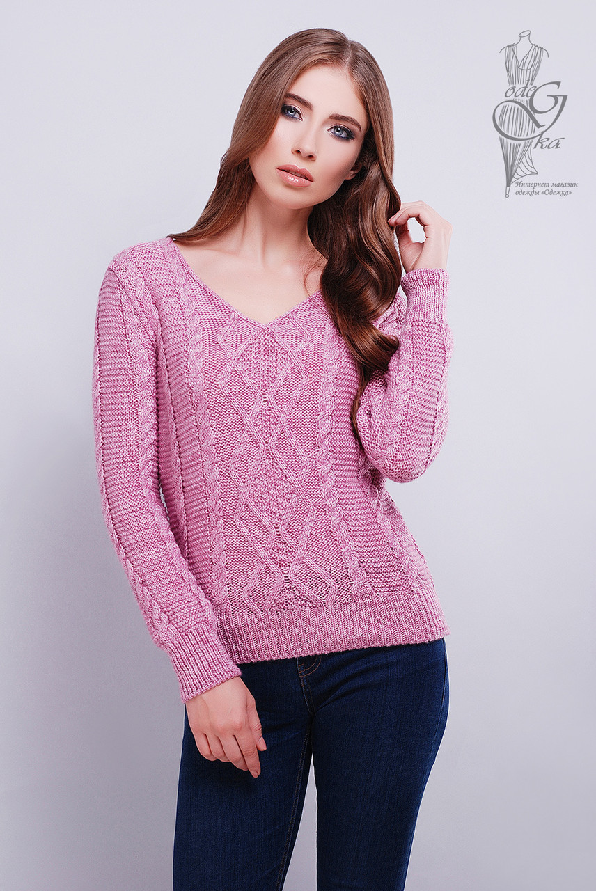 Красивые женские свитера Конти-5 из шерстяной нити