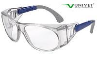 Очки защитные Univet 539 незапотевающие, покрытие от царапин, совместное ношение с оптическими очками, фото 1