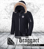 Braggart Black Diamond 4602 | Парка зимняя черная