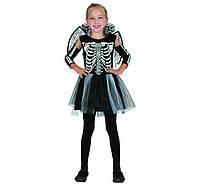 Карнавальный костюм Крылатая  Скелетонша рост 110-120 см