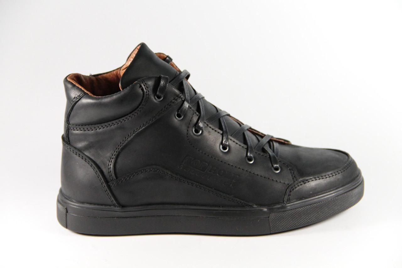 Мужские ботинки из натуральной кожи TH343BL