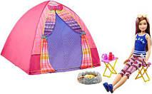Игровой набор лагерь сестер Барби и кукла Скиппер / Barbie Camping Fun Doll & Accessories Skipper Campsite
