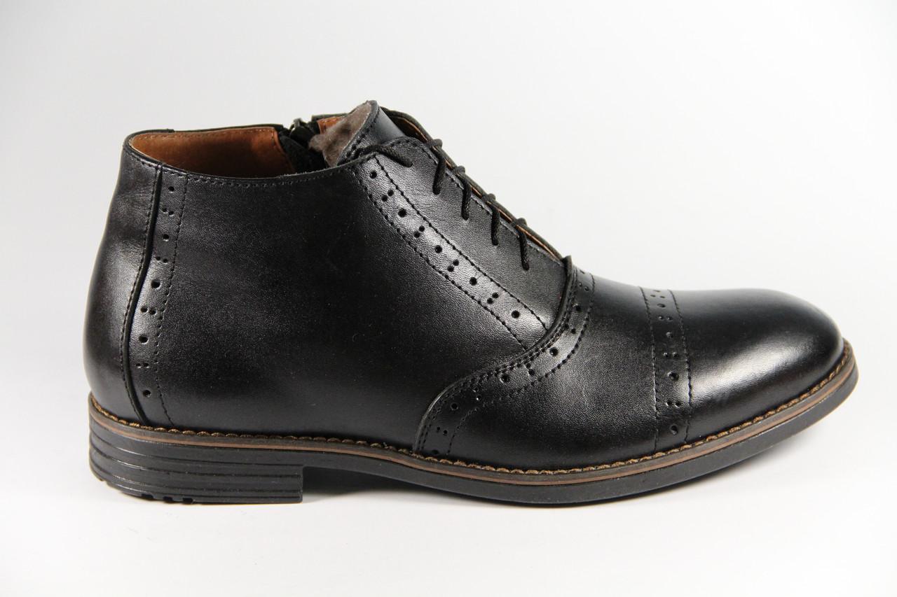 Мужские ботинки из натуральной кожи TH359BL