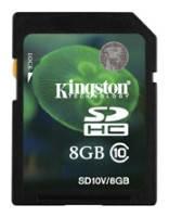 Карта памяти Kingston SDHC 8GB Class 10