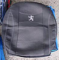 Автомобильные чехлы на сидения PREMIUM PEUGEOT PARTNER I 2002-08г. з/сп закрытый тыл и сид.2/3 1/3;5подгол.