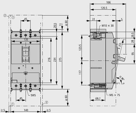 Выключатель автоматический LZMN3-AE630-I (630А 50кА) Eaton (111969), фото 2