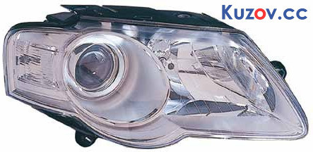 Фара VW Passat B6 05-10 левая (Depo) электрич., тип HELLA 441-11A7L-LDEM1 3C0941005AA