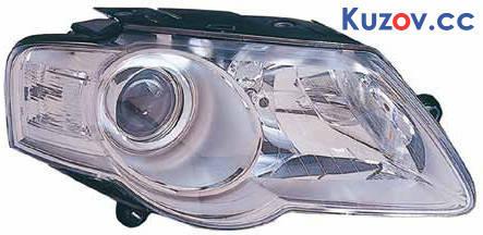 Фара VW Passat B6 05-10 левая (Depo) электрич., тип HELLA 441-11A7L-LDEM1 3C0941005AA, фото 2