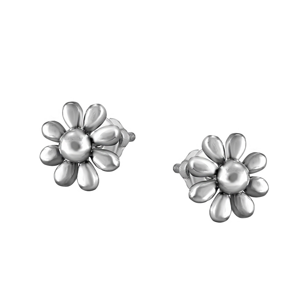 Серьги из серебра с куб. циркониями 178407