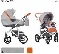 Универсальная коляска Bebetto Silvia 2в1 Серый