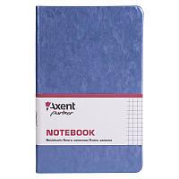 Книга записная Axent Partner Jazz 8207-14-A, 125*195 мм, клетка, синий металлик
