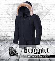 Braggart Black Diamond 9103   Мужская парка зимняя графит