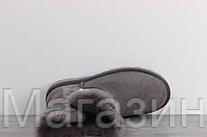 Женские угги UGG Australia Bailey Button, короткие угги австралия с пуговицей серые, фото 3