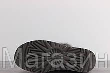 Женские угги UGG Australia Bailey Button, короткие угги австралия с пуговицей серые, фото 2