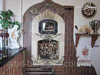 Стеклянные дверцы для камина/печи, фото 1