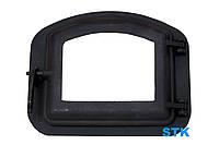 Чугунные дверки для камина со стеклом 420х335 мм, фото 1