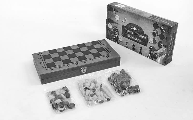 3 в 1 (шахматы, шашки, нарды)