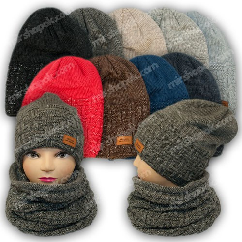 Комплект шапка и шарф (труба) для девочки, р. 52-54, подкладка флис, нитка люрекс, 7016