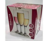 Набор бокалов для шампанского 190 мл MISKET 6 шт ArtCraft