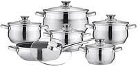 Набор кухонной посуды из нержавеющей стали 12 предметов  Bohmann BH-0522
