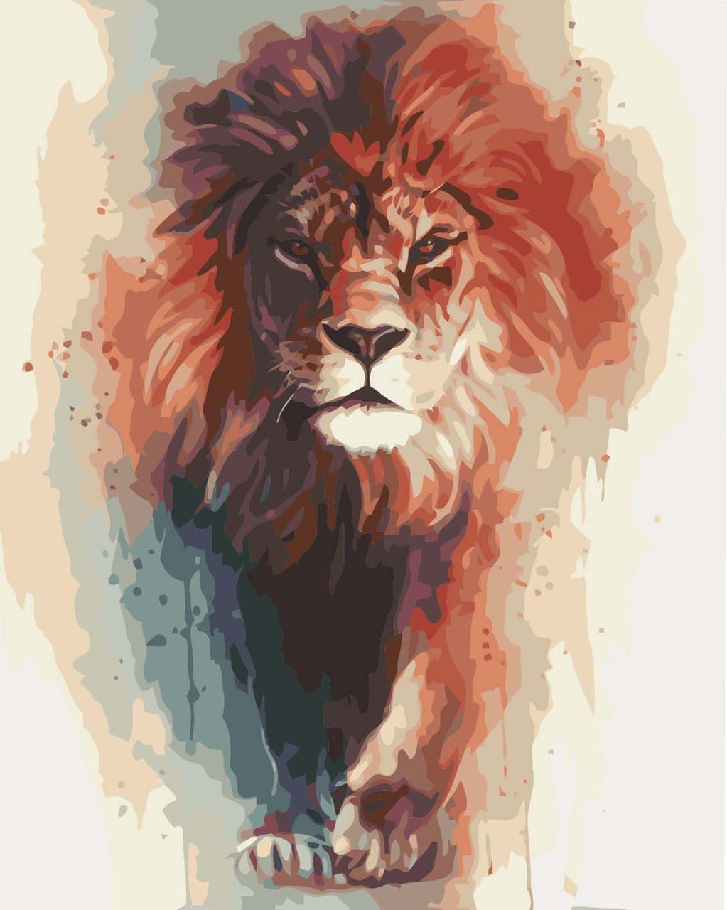 Живопись по цифрам Король саванны худ. Бен Джеффери (KH4017) Идейка 40 х 50 см