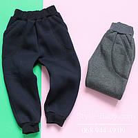 Спортивные штаны на мальчика с начесом р.28-40