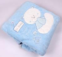 Плед велсофт TM  Bibaby голубой, розовый 85х90, фото 1
