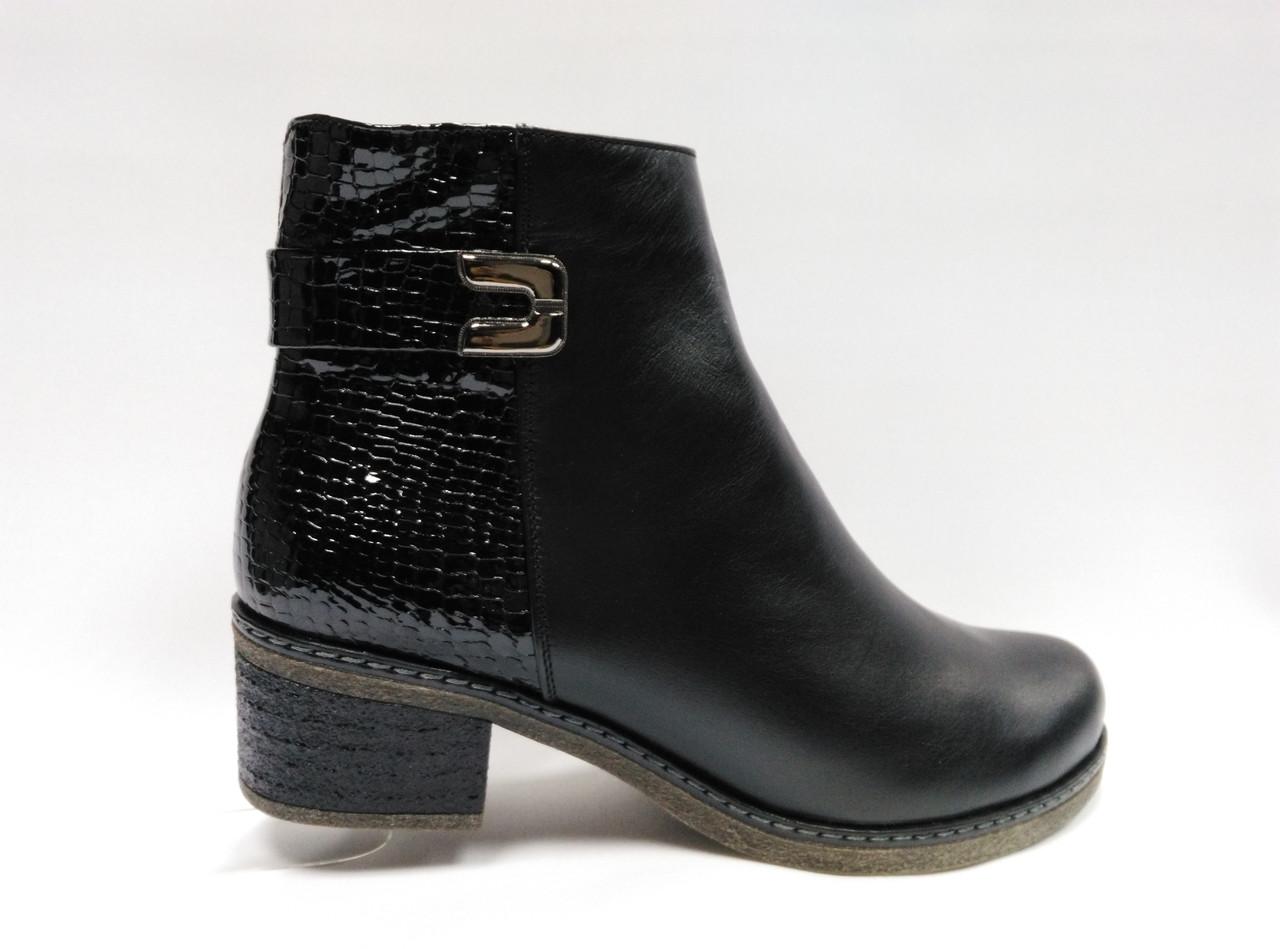 Зимние ботинки на маленьком каблуке. Большие размеры (41 - 43). Украина.