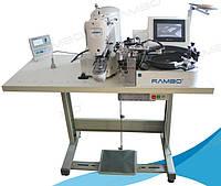 Автоматическая пуговичная машина с роботом для подачи пуговиц RM-101