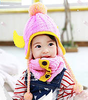 Набір шапка і снуд зимовий для дівчинки