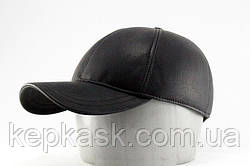 Бейсболка black leather KSK
